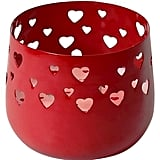 Candle With Red Heart Cutouts