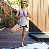 Jamie Chung held Tree Pose for a cause close to her heart.