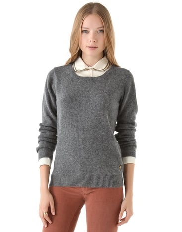 This Masion Scotch sweater ($123, originally $175) features a detachable collar, so there's no need to worry about pressing a blouse.