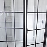 For the nickel framed shower, I DIYed it to look like an industrial factory window.