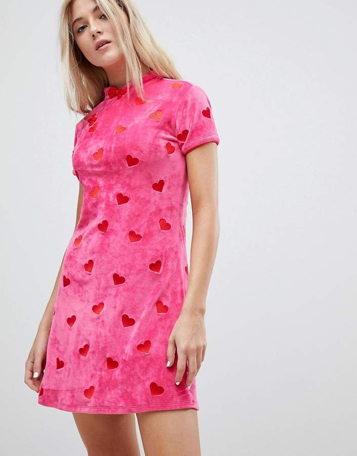 Lazy oaf valentine s heart embroidered dress best