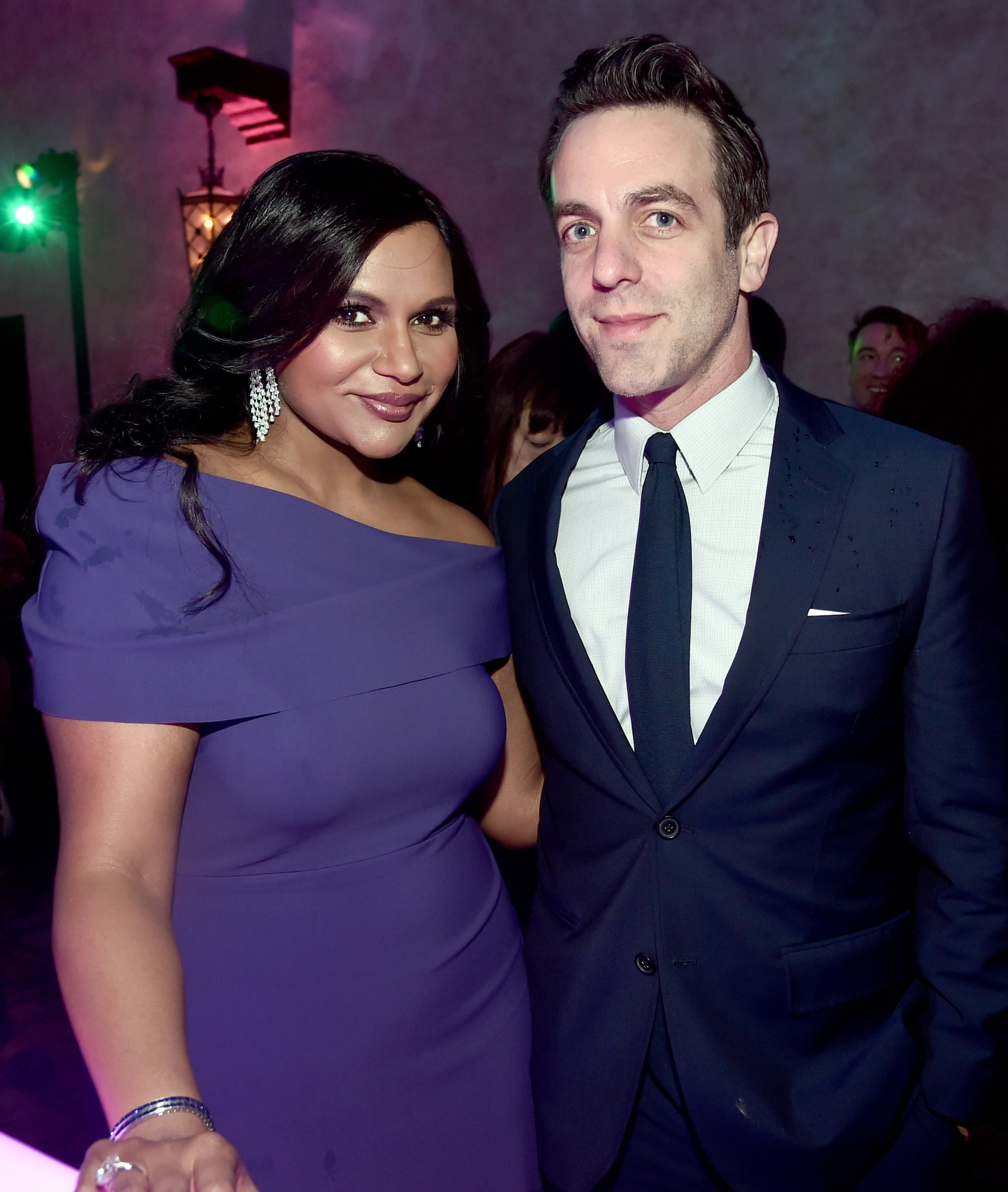 LOS ANGELES, CA - FEBRUARY 26:  Actor Mindy Kaling (L) and B. J. Novak at the world premiere of Disney?s 'A Wrinkle in Time' at the El Capitan Theatre in Hollywood CA, Feburary 26, 2018.  (Photo by Alberto E. Rodriguez/Getty Images for Disney)