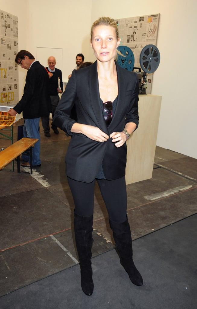 Lily Allen, Gwyneth Paltrow At Frieze Art Fair