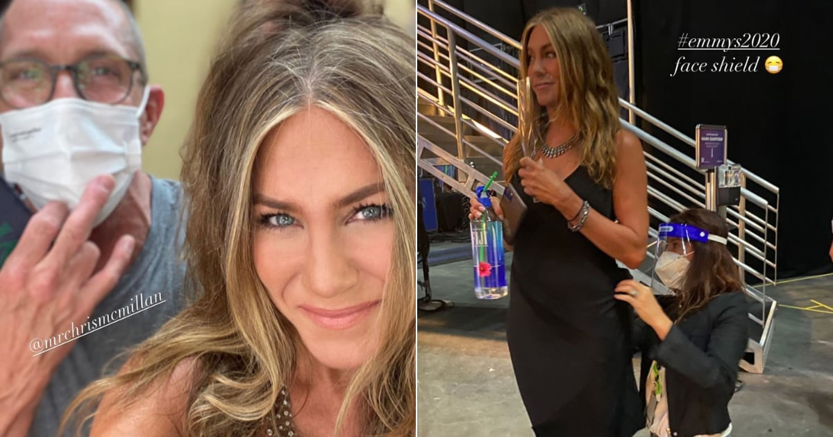 Jennifer Aniston Wore a Slinky Black Dress to the Emmys, and It's Just SO Jen