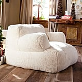 Ivory Sherpa Faux-Fur Eco Lounger