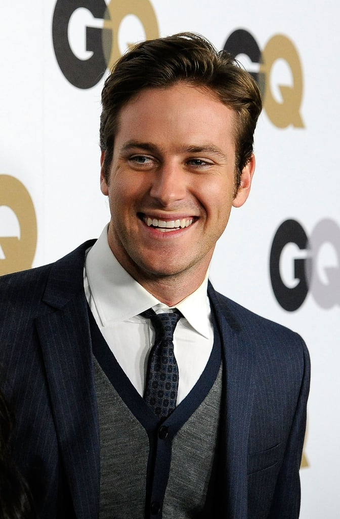 Armie Hammer Wore A Sweater Vest Under His Suit Jacket Justin