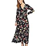 Unique Vintage Floral Long Sleeve Farrah Maxi Dress