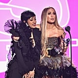 Cardi B and Jennifer Lopez Accepting the Best Collaboration Award at the 2018 MTV VMAs