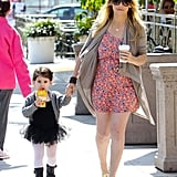 Sarah Michelle Gellar held her daughter Charlotte's hand on the way to a ballet class in LA.