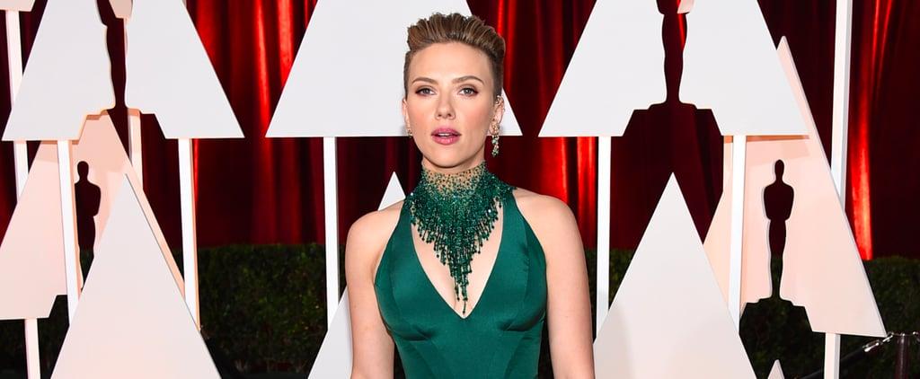 Scarlett Johansson Oscars Red Carpet Interview 2015 | Video