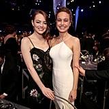 Pictured: Brie Larson, Emma Stone