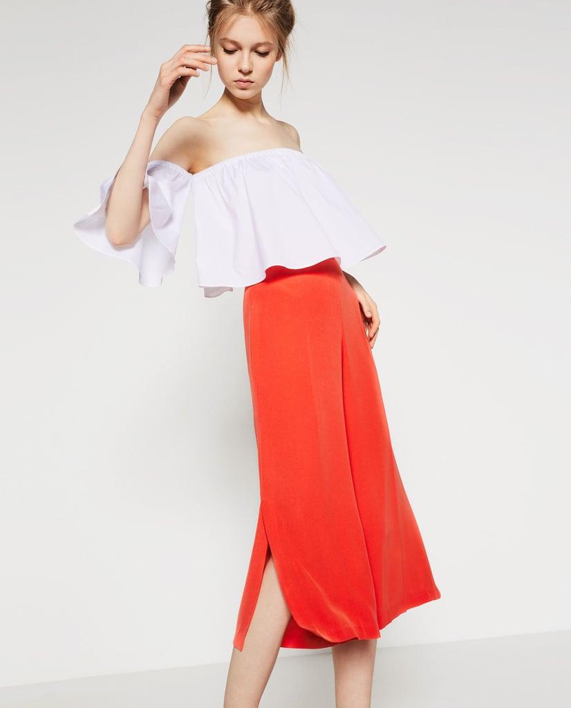 Zara Culottes With Slits ($36)