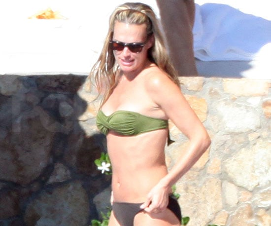 Slide Photo of Molly Sims in a Bikini in Mexico