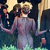 Miley Cyrus went full-on punk in a Marc Jacobs frock and spiked hair.
