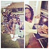Oprah Winfrey made dinner for herself and a group of her female students.