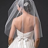 A classic blusher veil like this Toni Federici ($308) goes great with strapless gowns.