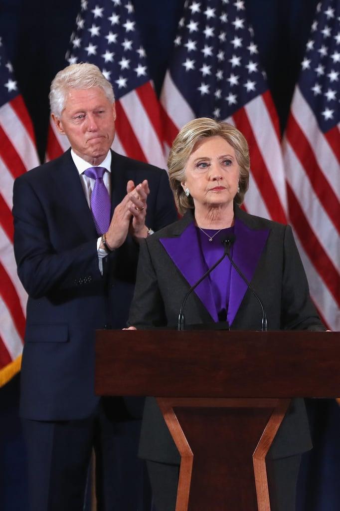 Hillary Clinton's Purple Blazer at Concession Speech 2016