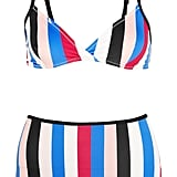 Solid & Striped The Belle And Bridget Striped Triangle Bikini ($175)