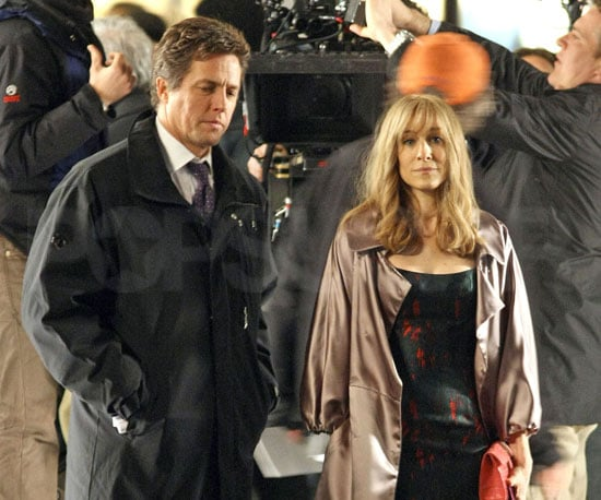 Photo of Sarah Jessica Parker and Hugh Grant on the Set of Did You Hear About the Morgans?