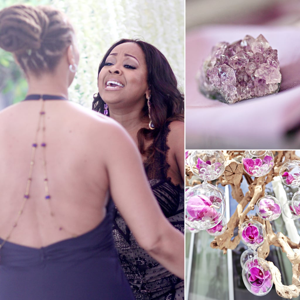 On the day of their wedding; Monifah Carter and Terez Thorpe had the engagement rings made of diamond and amethyst