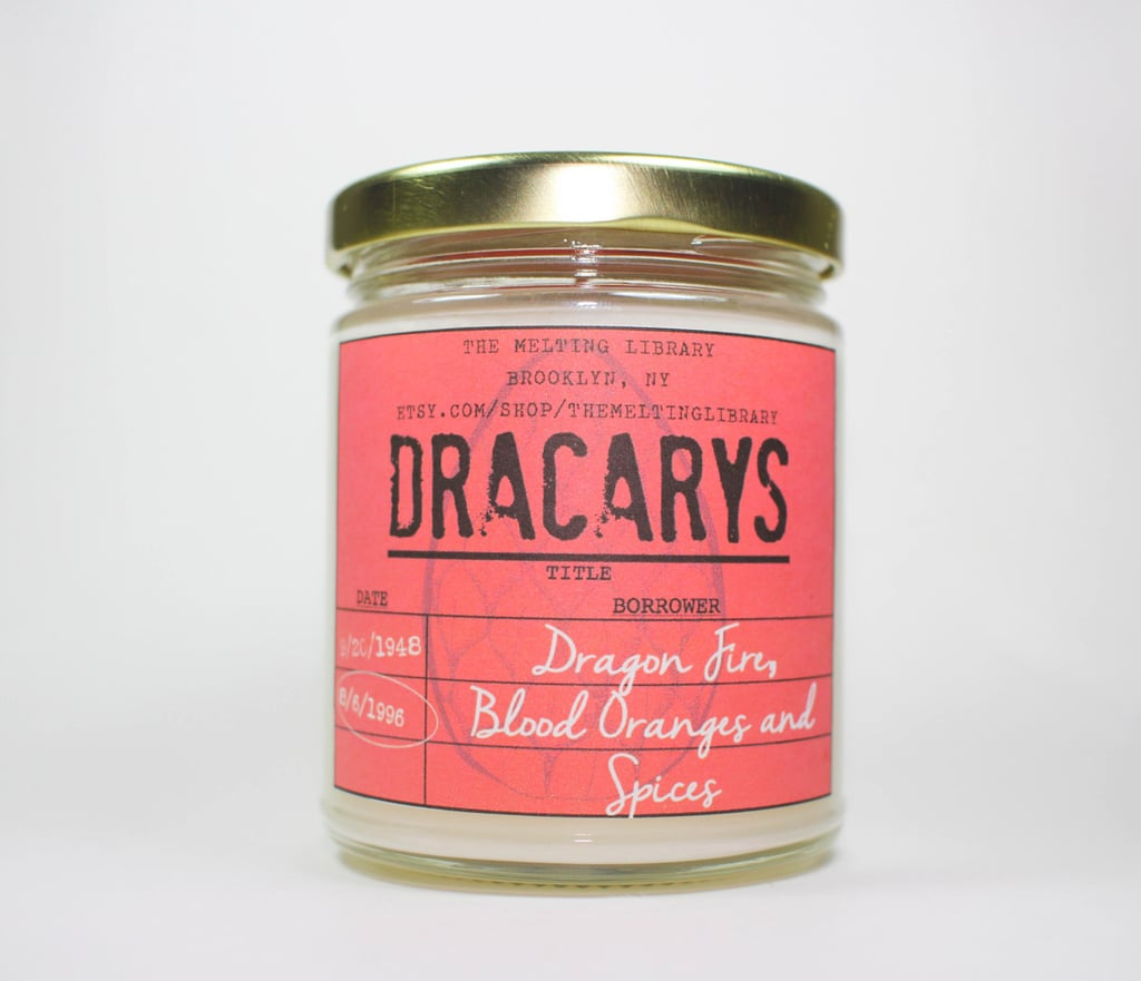 Dracarys candle ($12) with blood orange, spice, and firewood notes