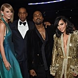 Jay Z, Kanye West, and Kim Kardashian