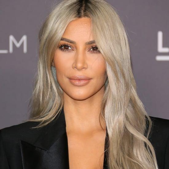 Kim Kardashian on Drew Barrymore Thin Eyebrows