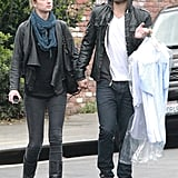 Emily VanCamp and Joshua Bowman PDA in LA.