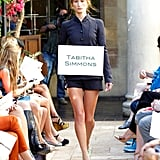 A shorts look from Tabitha Simmons came down the runway.