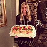 Nicky Hilton showed off a Thanksgiving-themed cake.