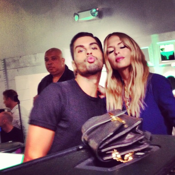 Joey Maalouf made funny faces with Rachel Zoe for FNO.  Source: Instagram user joeymaalouf