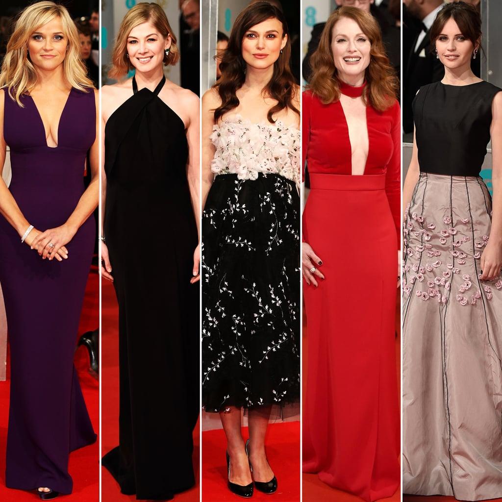 Celebrity Dresses at the BAFTA Awards 2015 | Fashion