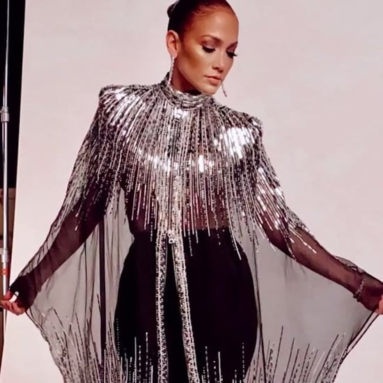 Jennifer Lopez's Silver Cape Gown on World of Dance Finale