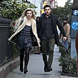 Zac Efron and Imogen Poots filmed a day scene in NYC.