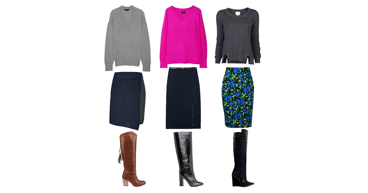 how to wear knee high boots and pencil skirts fall 2012