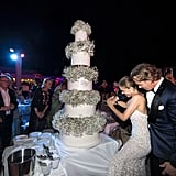 The Newlyweds Cut an Impressive 5-Tiered Cake
