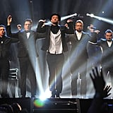 """Justin Timberlake was joined by the rest of *NSYNC to perform """"Girlfriend"""" and """"Bye Bye Bye."""""""