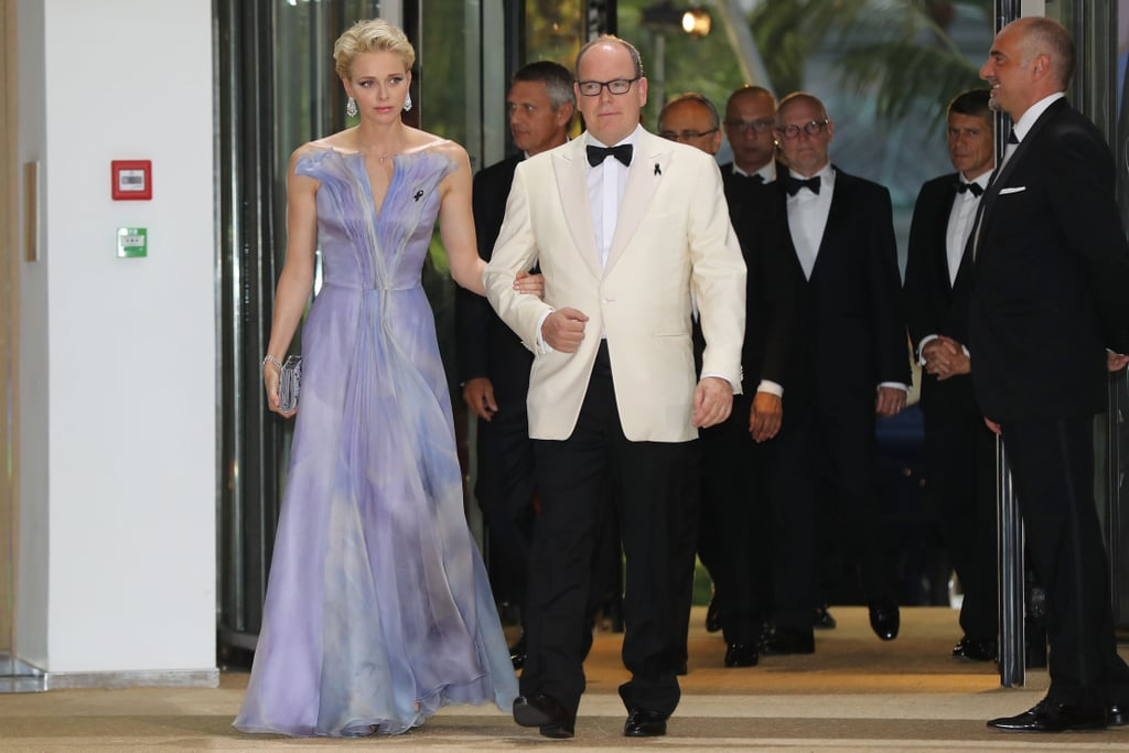 Princess Charlene Armani Dress at Red Cross Gala 2016
