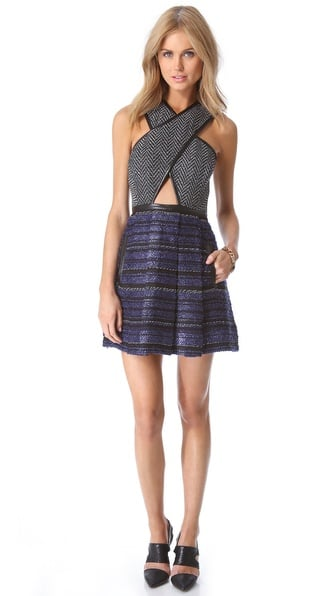 Talk about statement dress: this Three Floor cutout dress ($308) is sure to turn heads everywhere it goes. Cutouts tend to be hard to pull off, but I love the contrast between the subtle cutout and the more serious tweed fabrics — I call that chic teamwork! — MN
