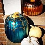 Metallic and Spider Web Pumpkin