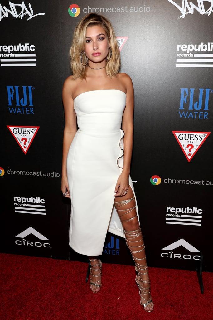 Hailey Baldwin David Koma Dress at VMAs Afterparty