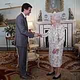 "Justin Trudeau is nearly a foot taller than the queen at 6'2""."