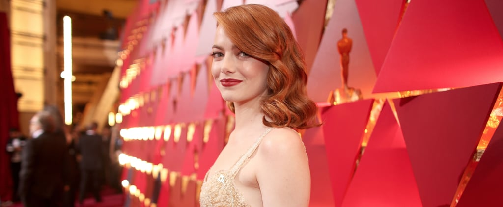 Emma Stone Does All-Copper Everything For Her Oscar's Beauty Look