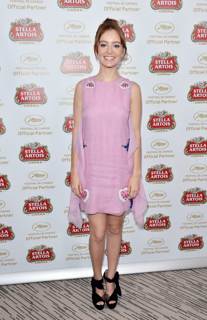 Ahna O'Reilly showed off her flirty side in a lilac Dior minidress at a Stella Artois event at the Cannes Film Festival.