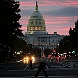 The sun rose over the Capitol on the first day the government was reopened.