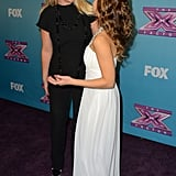 Britney Spears greeted Carly Rose Sonenclar on the red carpet.