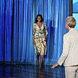 Michelle Cohosted The Ellen Show in Her Gucci Dress