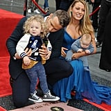 "On Dec. 16, 2014, their first daughter, James, was born. She was named after Ryan's father. The couple later welcomed a second daughter, Inez — ""with a z,"" as Blake later confirmed to the media — in 2016. The family of four made their first red carpet appearance together when Ryan received his star on the Hollywood Walk of Fame. Blake apparently drove Ryan to the hospital once when she was giving birth. And Ryan played ""Let's Get It On"" (as a joke) while Blake was in labor with their first child — which she didn't find very funny in the moment. They're pretty obsessed with their kids. Aside from the proud parents occasionally sharing adorable anecdotes in interviews (like having to explain anniversaries and talking about how Inez loves steak), Ryan often tweets funny scenarios involving his children. Plus, who can forget how excited they were to hear their daughter's voice at a Taylor Swift concert? (James is featured at the beginning of the song ""Gorgeous."")"