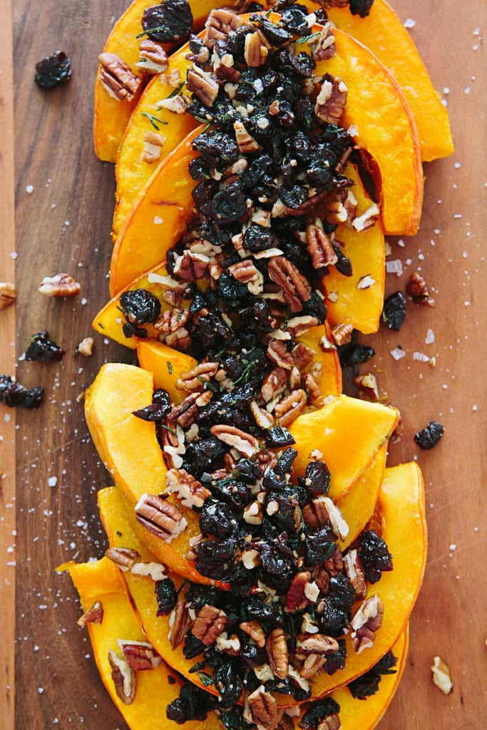 Roasted Red Kuri Squash With Tart Cherries and Pecans