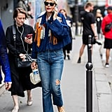 Play Up a Cool Top With Metallic Flat Sandals and Boot-Cut Jeans